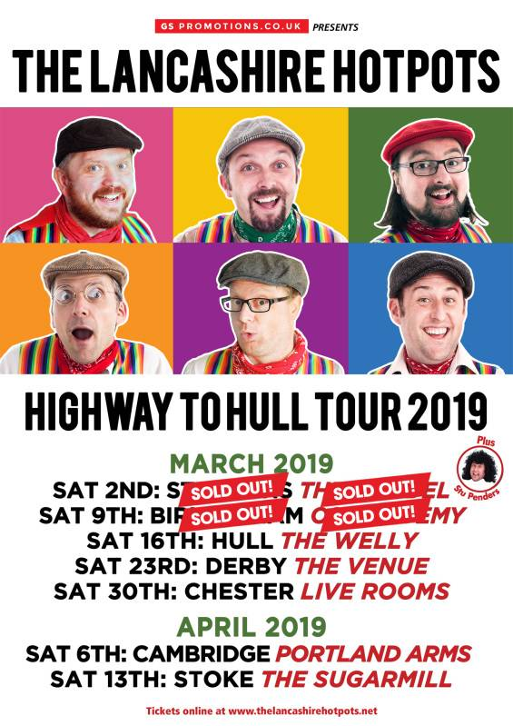 The Lancashire Hotpots Highway to Hull tour flyer