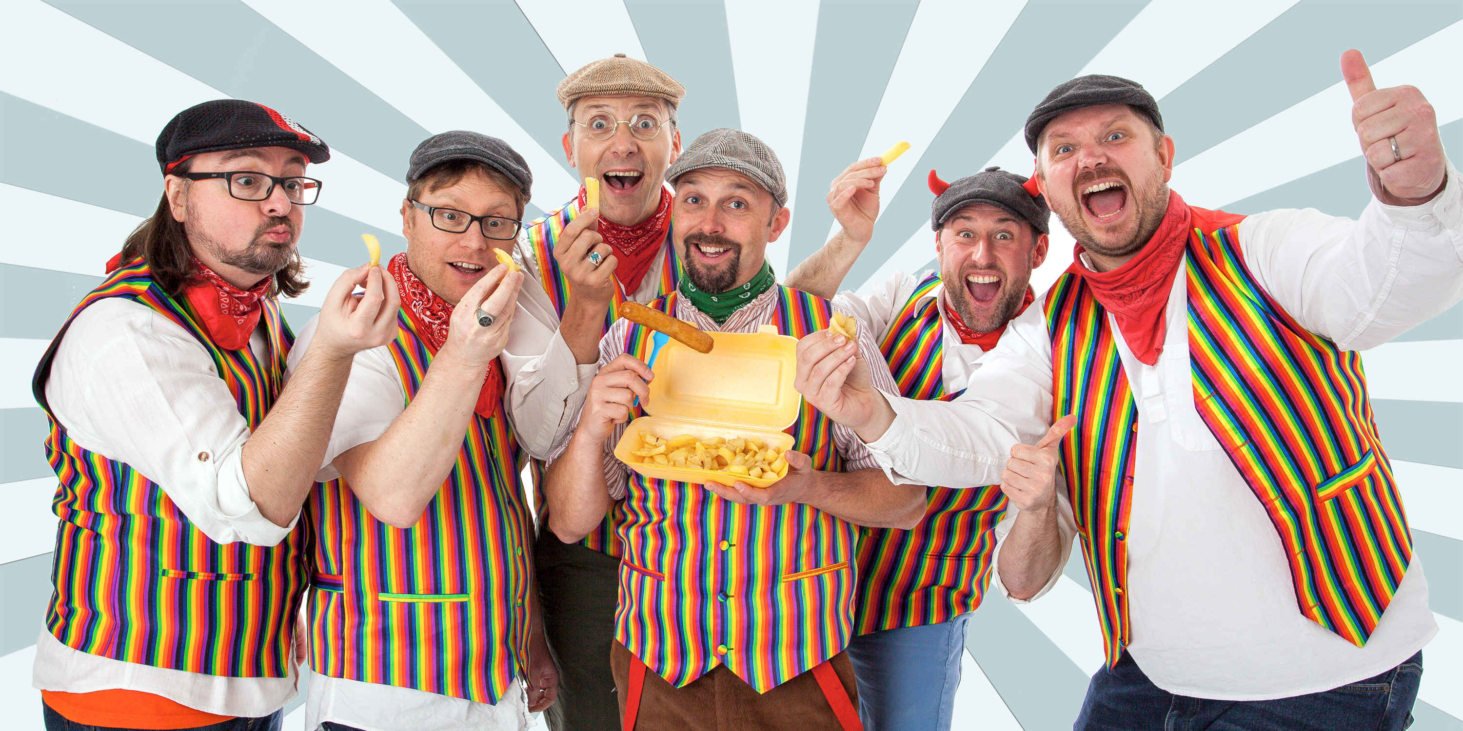 The Lancashire Hotpots Chips & Giggles Tour promotion